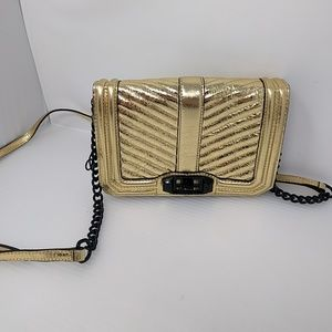 Rebecca Minkoff Gold Chevron Crossbody